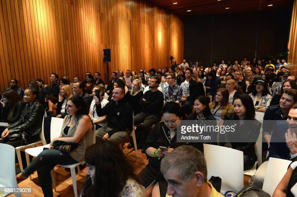 Guests watch as the cast of Riverdale series are interviewed on stage at the Vulture Festival at The Standard High Line on May 20 2017 in New York...