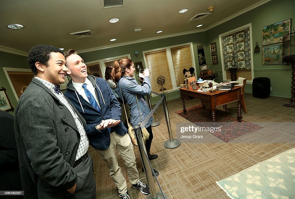 Guests were treated to a rare peak behind the curtain at the Walt Disney Studios during an exclusive engagement run of 'Saving Mr. Banks' at Walt Disney Studios on December 13, 2013 in Burbank, California. After the film they followed in the footsteps of Walt Disney and P.L. Travers and engaged in an interactive walking tour of the lot which included costumes, props and locations from both 'Saving Mr. Banks' and 'Mary Poppins'. At the end of the evening, guests received a complimentary copy of the newly released 50th Anniversary edition of 'Mary Poppins' on Blu Ray DVD. 'Saving Mr. Banks' is in select theaters now, and opens wide December 20th.