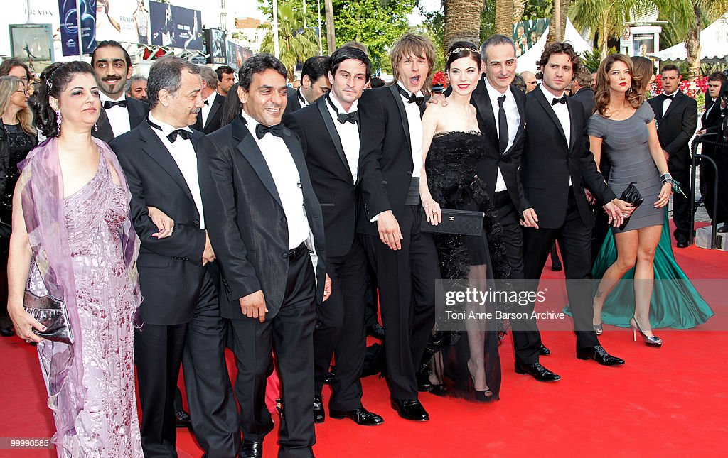 Guests with Actor Alexander Scheer (5R), Actress Nora Von Waldstaetten (4R), Director Olivier Assayas (3R) and Edgar Ramirez (2R) attends the premiere of 'Poetry' held at the Palais des Festivals during the 63rd Annual International Cannes Film Festival on May 19, 2010 in Cannes, France.