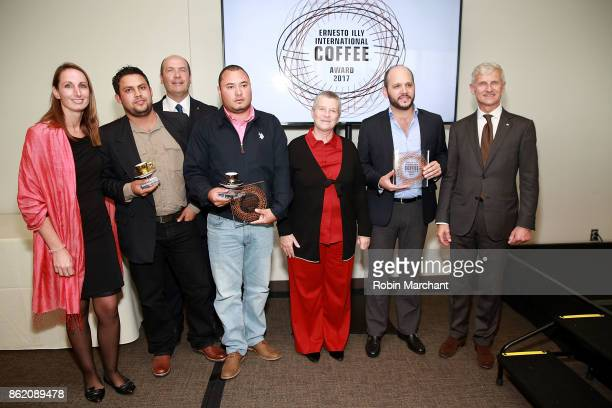 Guests with Andrea Illy attend Ernesto Illy International Coffee Award Ceremony at United Nations on October 16 2017 in New York City