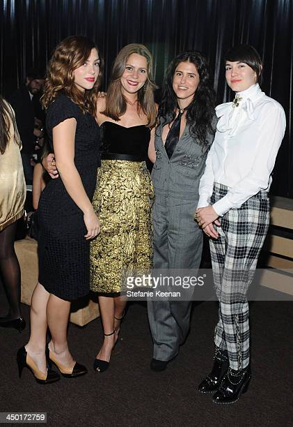 Guests with filmmaker Francesca Gregorini attend Museo Jumex Opening After Party on November 16 2013 in Mexico City Mexico