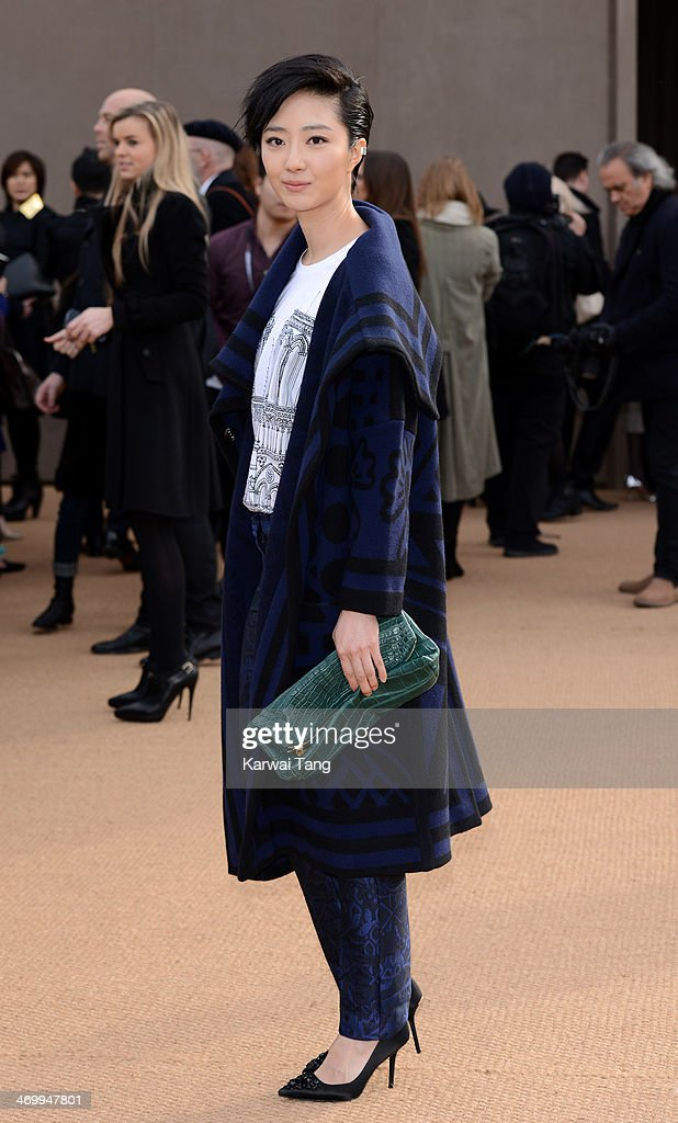 Guey Lun-Mei attends the Burberry Prorsum show at London Fashion Week AW14 at Kensington Gardens on February 17, 2014 in London, England.
