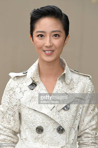 Guey LunMei attends the Burberry Prorsum show during London Fashion Week Spring/Summer 2016/17 on September 21 2015 in London England