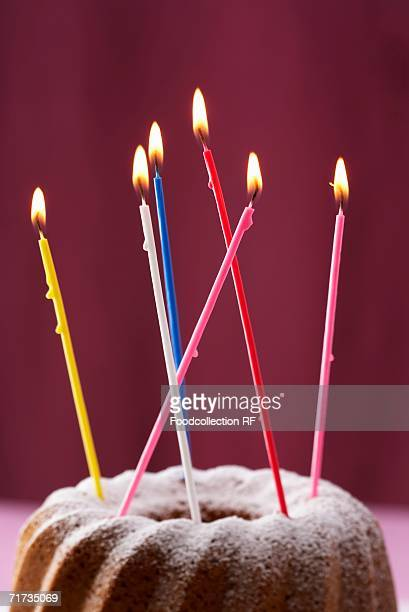 Gugelhupf with birthday candles
