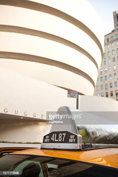 Guggenheim Museum and taxi