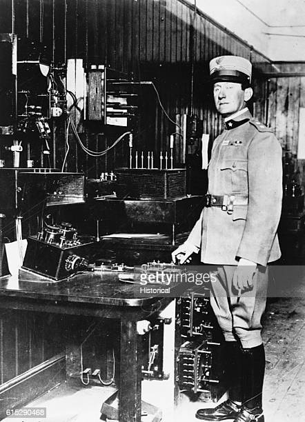 Guglielmo Marconi an electrical engineer who pioneered radio telegraphy He was awarded a joint Nobel Prize for Physics in 1909