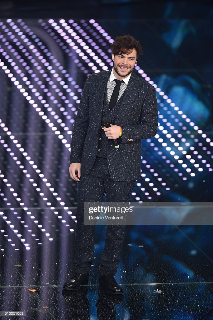 Guglielmo Scilla attends the closing night of 66th Festival di Sanremo 2016 at Teatro Ariston on February 13, 2016 in Sanremo, Italy.
