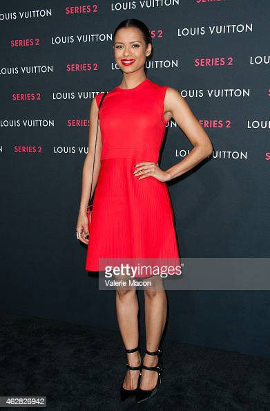 Gugu MbathaRaw arrives at Louis Vuitton 'Series 2' The Exhibition on February 5 2015 in Hollywood California