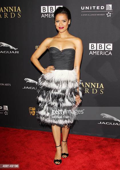 Gugu MbathaRaw arrives at the BAFTA Los Angeles Jaguar Britannia Awards held at The Beverly Hilton Hotel on October 30 2014 in Beverly Hills...