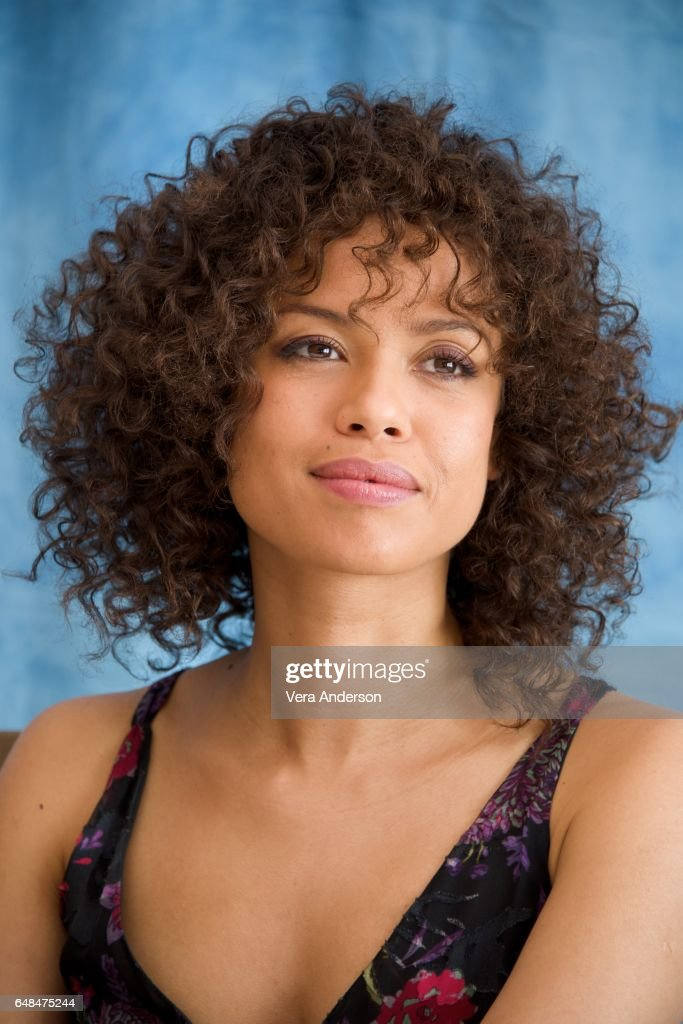 Gugu Mbatha-Raw at the 'Beauty and the Beast' Press Conference at the Montage Hotel on March 5, 2017 in Beverly Hills, California.