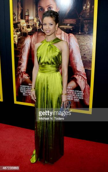 Gugu MbathaRaw attends the 'Belle' premiere at The Paris Theatre on April 28 2014 in New York City