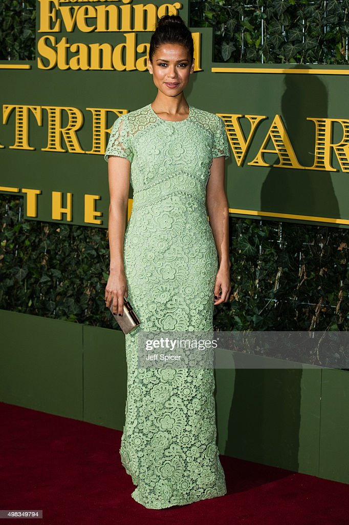 Gugu Mbatha-Raw attends the Evening Standard Theatre Awards at The Old Vic Theatre on November 22, 2015 in London, England.