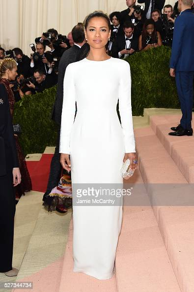 Gugu MbathaRaw attends the 'Manus x Machina Fashion In An Age Of Technology' Costume Institute Gala at Metropolitan Museum of Art on May 2 2016 in...