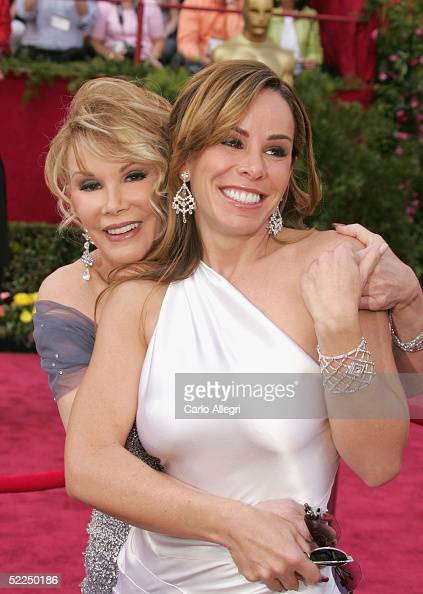 Guide Channel Correspondants Joan Rivers and Melissa Rivers arrive to the 77th Annual Academy Awards at the Kodak Theater on February 27 2005 in...