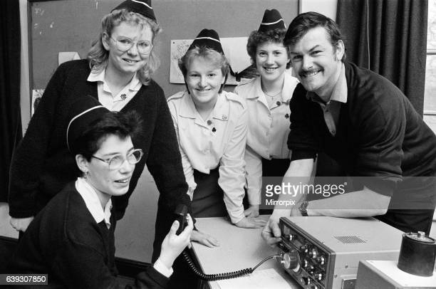 Guides from the 7th Mirfield Company took to the radio at the weekend Pictured from left are Rachel Newby Philippa Woods Lisa Wilson and Judith...
