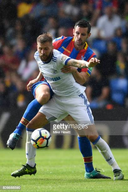 Guido Burgstaller of Schalke in action during a Pre Season Friendly between Crystal Palace and FC Schalke 04 at Selhurst Park on August 5 2017 in...