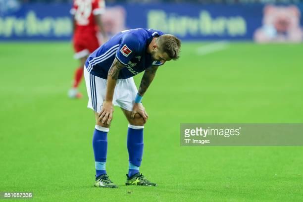 Guido Burgstaller of Schalke looks on during the Bundesliga match between FC Schalke 04 and FC Bayern Muenchen at VeltinsArena on September 19 2017...