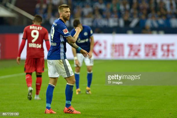 Guido Burgstaller of Schalke looks on during the Bundesliga match between FC Schalke 04 and Bayer 04 Leverkusen at VeltinsArena on September 29 2017...