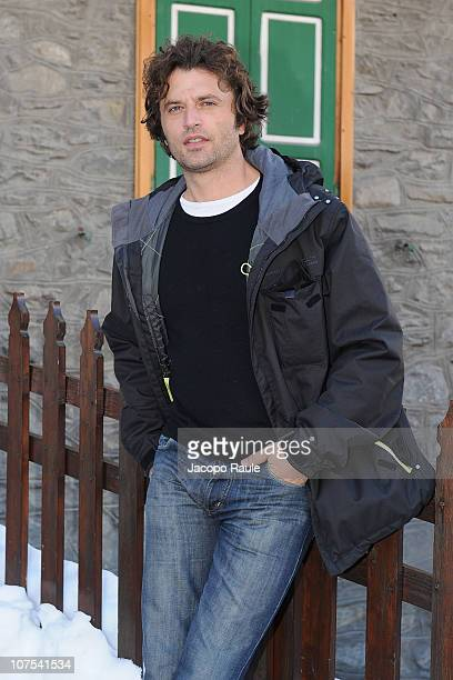 Guido Caprino attends Courmayeur Noir Festival Day 6 on December 12 2010 in Courmayeur Italy