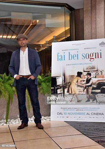 Guido Caprino attends the 'Fai bei sogni' photocall in Rome on November 7 2016 in Rome Italy
