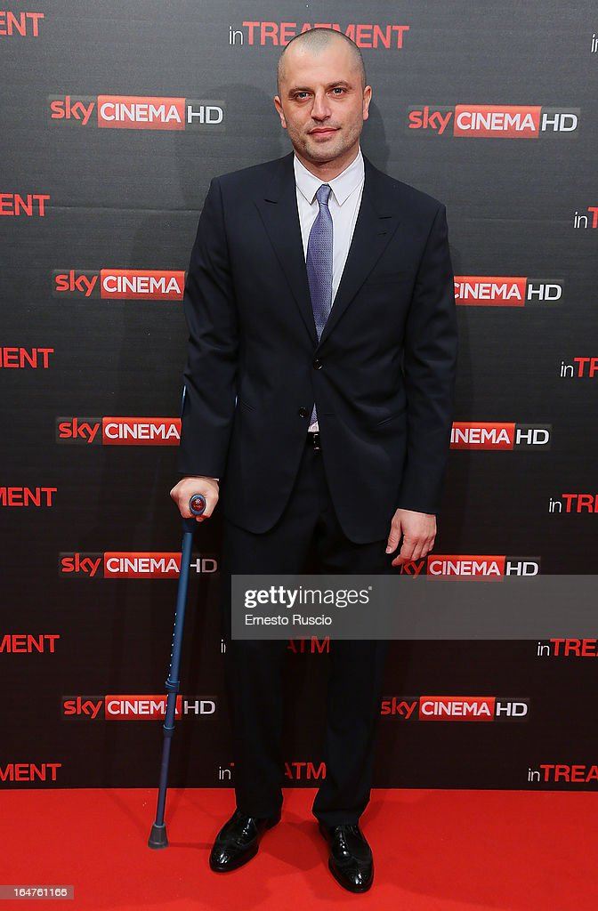 Guido Caprino attends the 'In Treatment' premiere at Teatro Capranica on March 27, 2013 in Rome, Italy.
