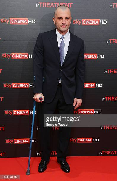 Guido Caprino attends the 'In Treatment' premiere at Teatro Capranica on March 27 2013 in Rome Italy