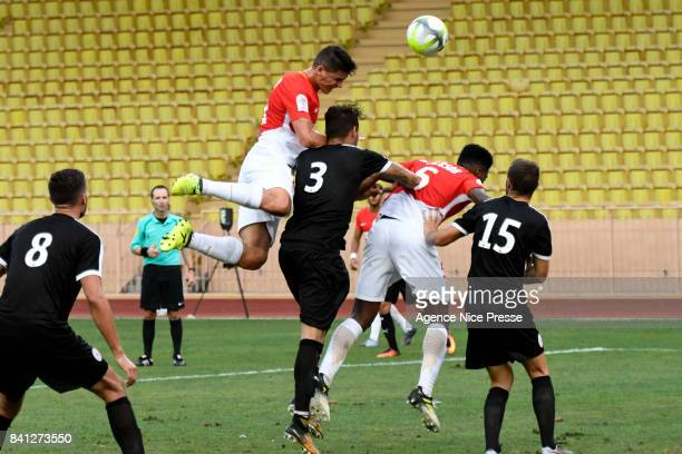 Guido Carrillo of Monaco during the friendly match between As Monaco and Nimes Olympique at Stade Louis II on August 31 2017 in Monaco Monaco