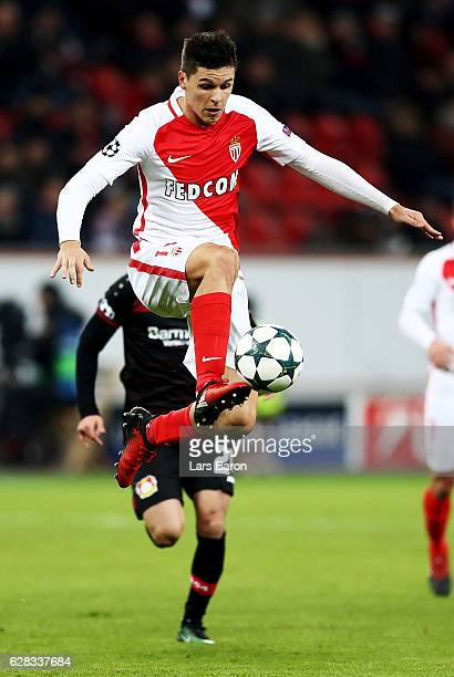 Guido Carrillo of Monaco in action during the UEFA Champions League match between Bayer 04 Leverkusen and AS Monaco FC at BayArena on December 7 2016...