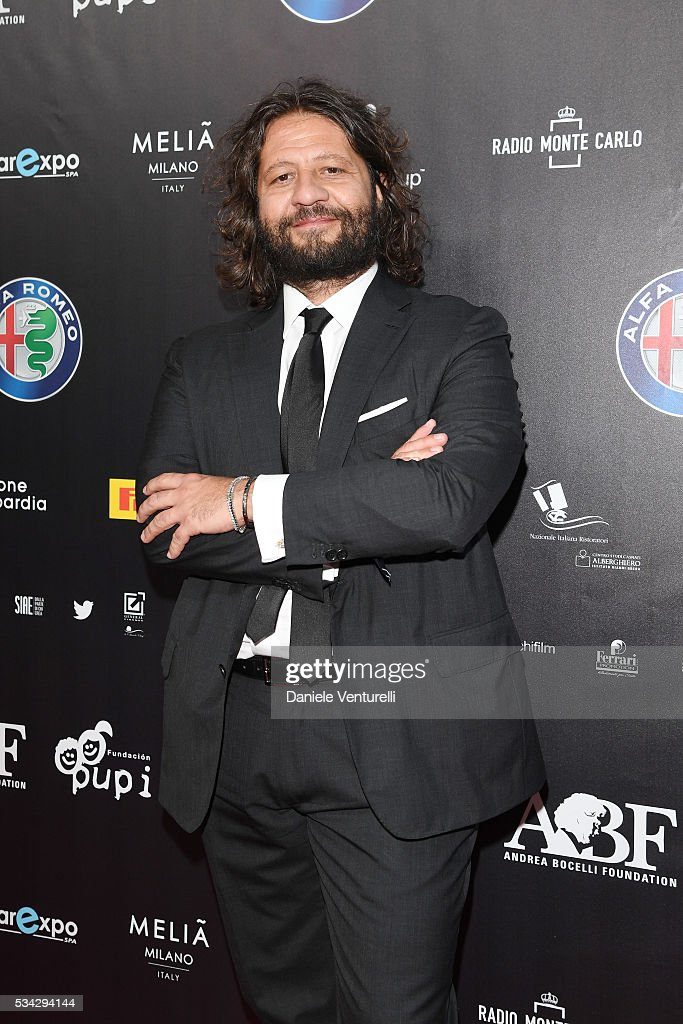 Guido Damiani walks the red carpet of Bocelli and Zanetti Night on May 25, 2016 in Rho, Italy.