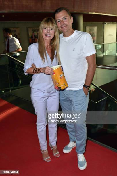 Guido Kellermann and his wife Casha Kellermann during the 'Das Pubertier' Premiere at Mathaeser Filmpalast on July 4 2017 in Munich Germany