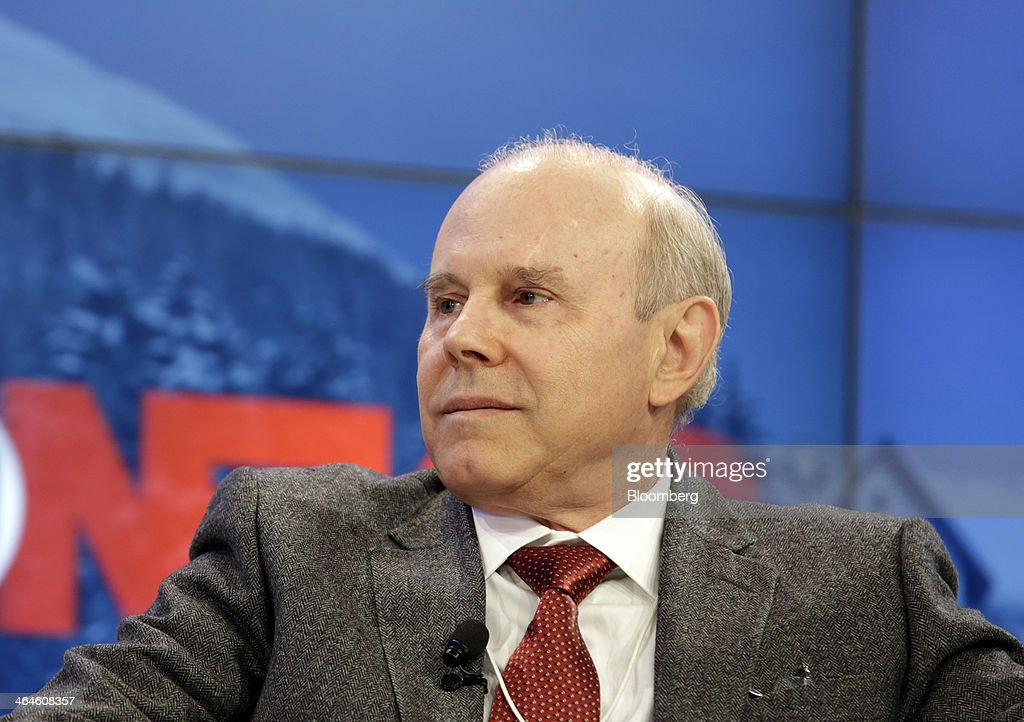 <a gi-track='captionPersonalityLinkClicked' href=/galleries/search?phrase=Guido+Mantega&family=editorial&specificpeople=574704 ng-click='$event.stopPropagation()'>Guido Mantega</a>, Brazil's finance minister, pauses during a session on day two of the World Economic Forum (WEF) in Davos, Switzerland, on Thursday, Jan. 23, 2014. World leaders, influential executives, bankers and policy makers attend the 44th annual meeting of the World Economic Forum in Davos, the five day event runs from Jan. 22-25. Photographer: Jason Alden/Bloomberg via Getty Images
