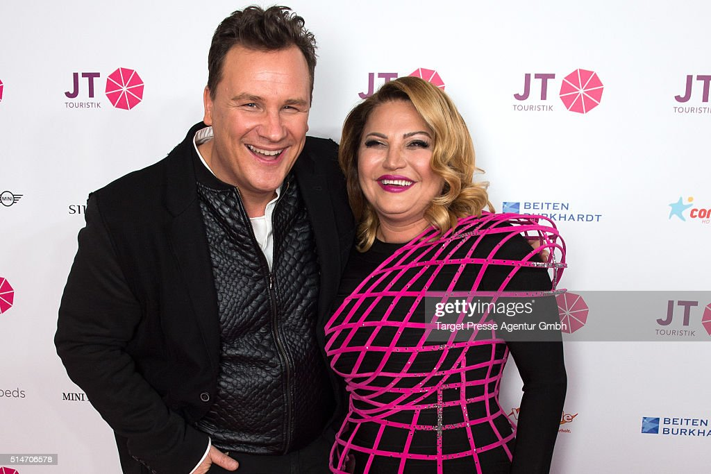 Guido Maria Kretschmer and Jasmin Taylor attend the JT Touristik Celebrates ITB Party at Soho House on March 10 2016 in Berlin Germany