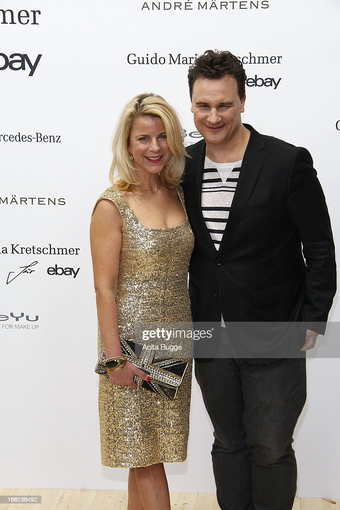 Guido Maria Kretschmer and Leonie Bechtoldt attend the Guido Maria Kretschmer For eBay Collection Launch at Label 2 on April 10, 2013 in Berlin, Germany.