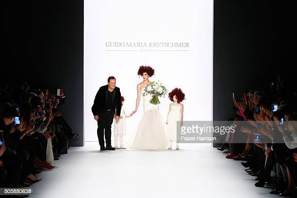 Guido Maria Kretschmer and Zoe Helali walks the runway at the Guido Maria Kretschmer show during the MercedesBenz Fashion Week Berlin Autumn/Winter...