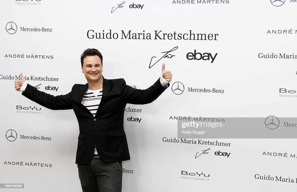 Guido Maria Kretschmer attends the Guido Maria Kretschmer For eBay Collection Launch at Label 2 on April 10, 2013 in Berlin, Germany.