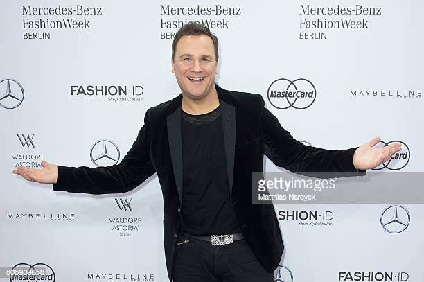 Guido Maria Kretschmer attends the Guido Maria Kretschmer show during the MercedesBenz Fashion Week Berlin Autumn/Winter 2016 at Brandenburg Gate on...