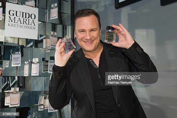 Guido Maria Kretschmer poses during the Guido Maria Kretschmer fragrance launch on July 7 2015 in Berlin Germany