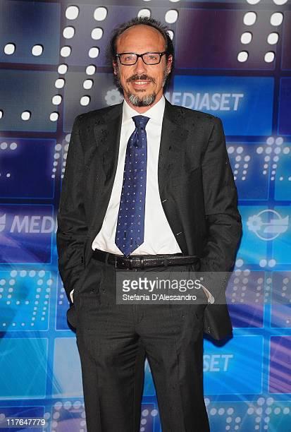 Guido Meda attends Mediaset Night TV Programming Presentation held at Mediaset Studios on June 29 2011 in Milan Italy