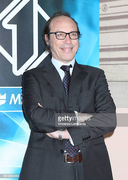 Guido Meda attends 'Superbike' and 'Motomondiale' TV Show photocall on February 12 2013 in Milan Italy
