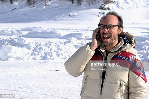 Guido Meda attends the 'Races on Ice' in Livigno on January 22 2010 in Livigno near Sondrio Italy