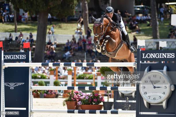 Guido of Italy riding LUCAINE during the Piazza di Siena Bank Intesa Sanpaolo in the Villa Borghese on May 27 2017 in Rome Italy