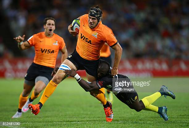 Guido Petti of the Jaguares during the 2016 Super Rugby match between Toyota Cheetahs and Jaguares at Toyota Stadium on February 26 2016 in...