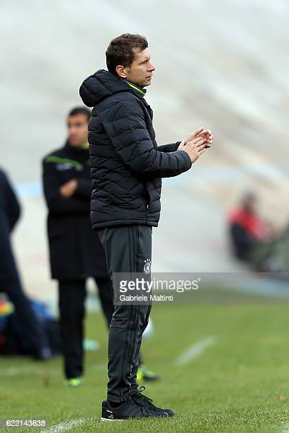 Guido Streichsbier manager of Germany U20 gestures during the Four Nations tournament match between Italy U20 and Germany U20 on November 10 2016 in...