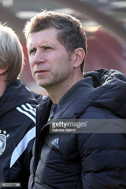 Guido Streichsbier manager of Germany U20 looks on during the Four Nations tournament match between Italy U20 and Germany U20 on November 10 2016 in...