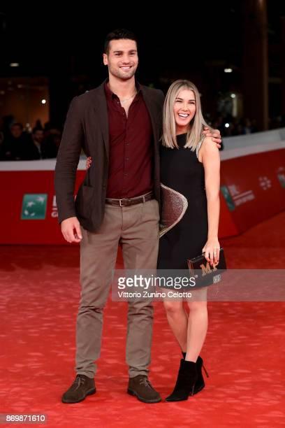 Guido Vianello and Martina Pinto walk a red carpet for 'Borg McEnroe' during the 12th Rome Film Fest at Auditorium Parco Della Musica on November 3...