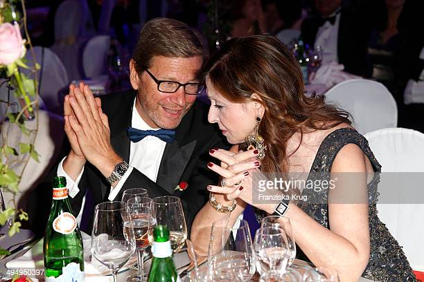 Guido Westerwelle and Vicky Leandros attend the Rosenball 2014 on May 31 2014 in Berlin Germany