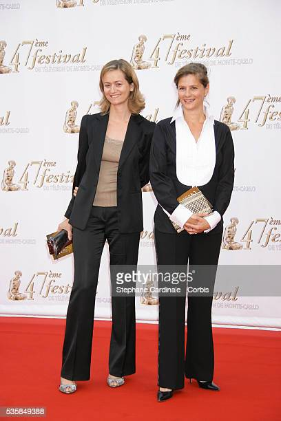 Guilaine Chenu and Francoise Joly at the opening night of the 47th Monte Carlo Television Festival in Monaco