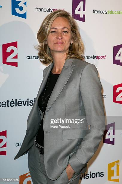 Guilaine Chenu attends the 'Rentree de France Televisions' at Palais De Tokyo on August 26 2014 in Paris France