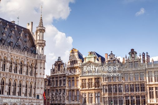 Guildhall facades in the Grand Place.