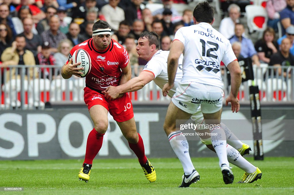 Guilhem GUIRADO during the French Top 14 rugby union match between RC Toulon and Stade Toulousain ( Toulouse ) at Allianz Riviera on April 30, 2016 in Nice, France.